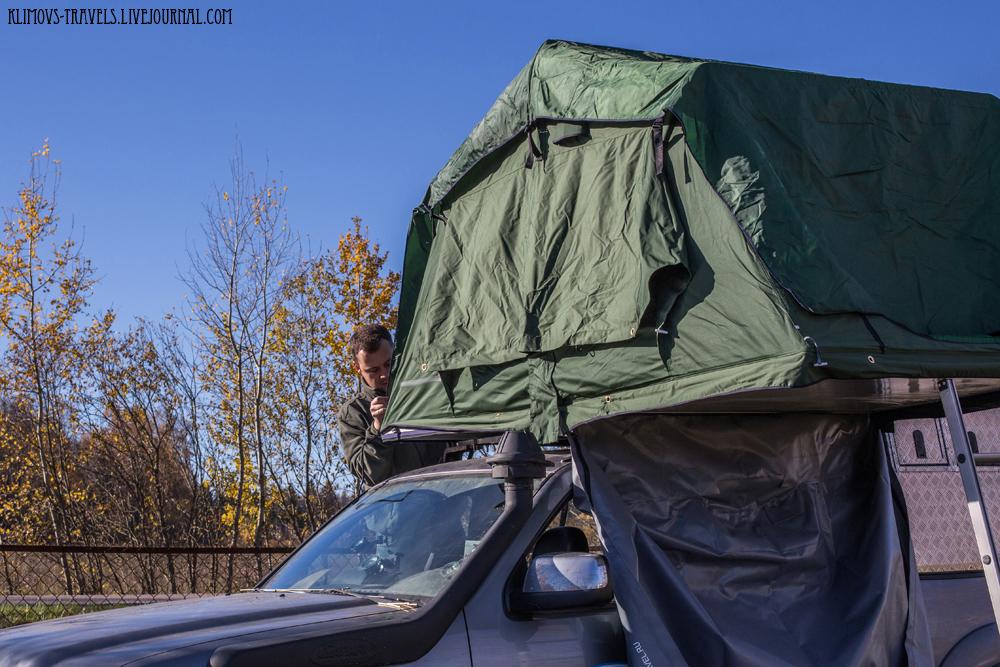 палатка на крышу